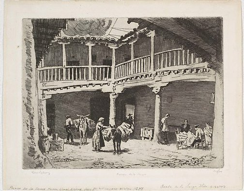 An image of Posada de la Sangre, Toledo by Lionel Lindsay