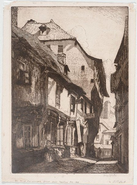 An image of Rue de la Cordonnerie, Dinan by Bruce Robertson