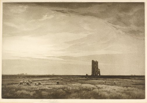 An image of The lonely tower by Percival Gaskell