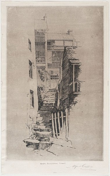 An image of Steps, Gloucester st by Alfred Coffey
