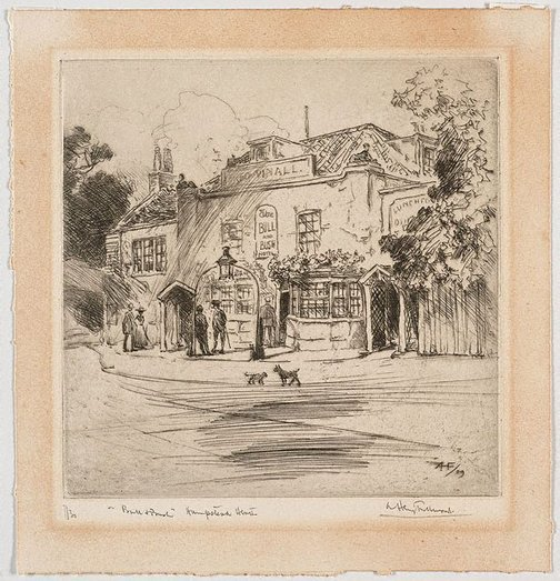 An image of The Bull and Bush by A Henry Fullwood