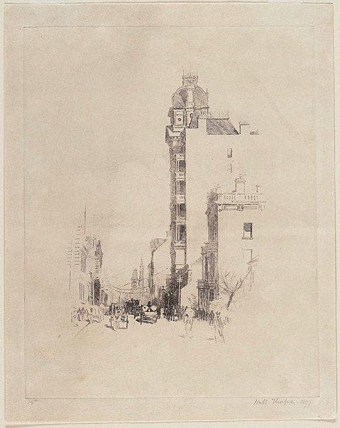 An image of Castlereagh St, 1897 by John Hall Thorpe