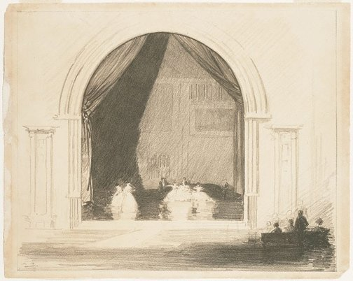 An image of The rehearsal by Arthur Streeton