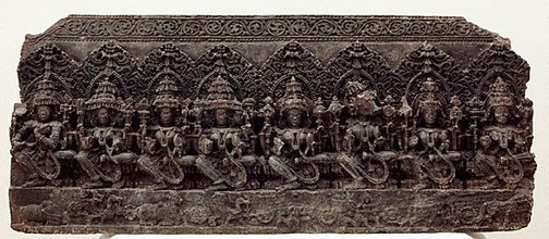 An image of The Seven Mother Goddesses (Saptamatrika) by