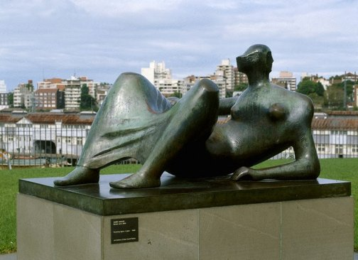 An image of Reclining figure: Angles by Henry Spencer Moore