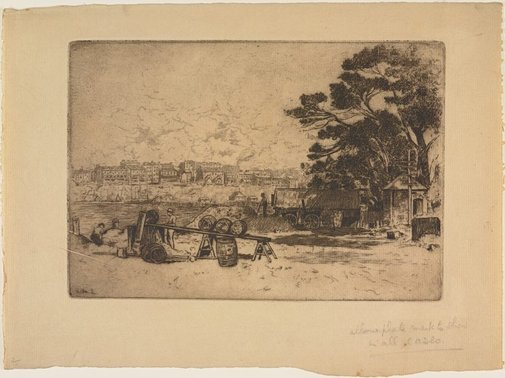 An image of The council yard, McMahon's Point by Sydney Ure Smith