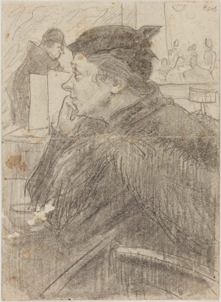 An image of Study for 'Woman in a cafe' by William Dobell