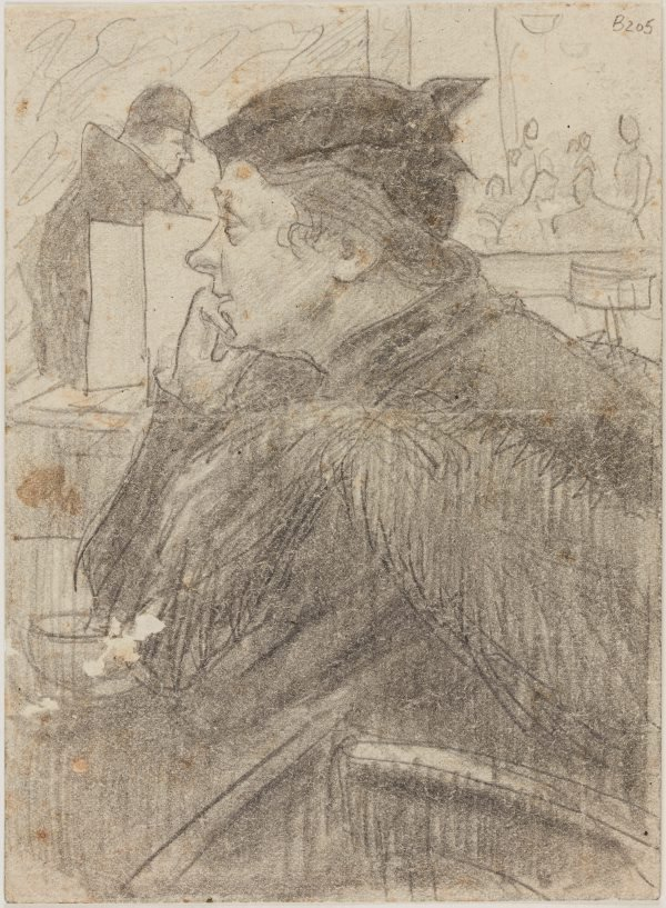 An image of Study for 'Woman in a cafe'
