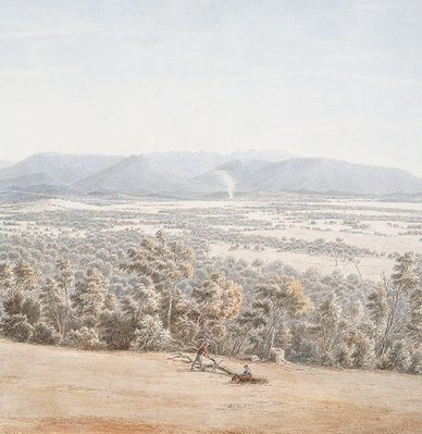 Alternate image of Lilydale from the Hills with the Dandenongs in the distance by Eugene von Guérard
