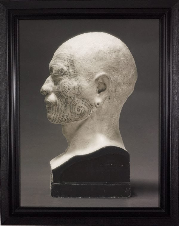 An image of Portrait of a life cast of Matoua Tawai (left profile), Aotearoa, New Zealand
