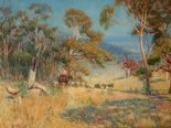 Alternate image of Australian sheep country by Albert Hanson
