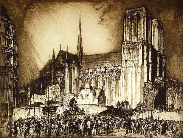 AGNSW collection Sir Frank Brangwyn Notre Dame, Paris 1914