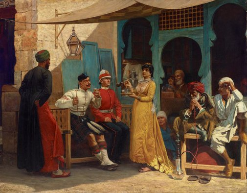An image of Great Britain in Egypt, 1886 by Walter Charles Horsley