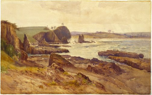 An image of Cathedral Rock, Kiama, New South Wales by A Henry Fullwood