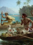Alternate image of Race to the market, Tahiti by Nicholas Chevalier