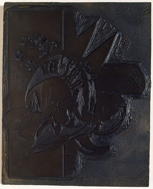 An image of Woodblock for 'Still life on the lease, Towong, Upper Murray' by Eric Thake