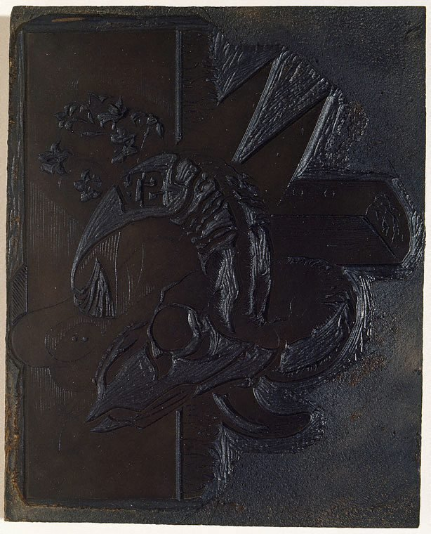 An image of Woodblock for 'Still life on the lease, Towong, Upper Murray'