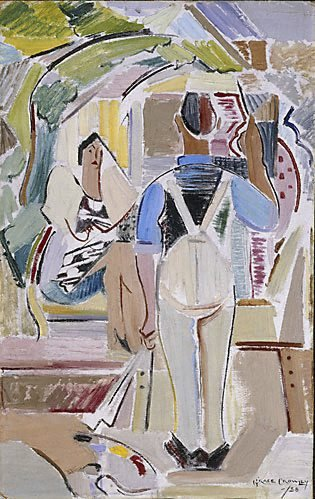 An image of The artist and his model