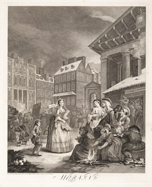 An image of Morning by William Hogarth