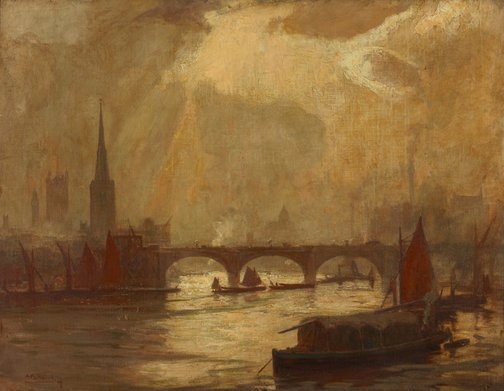 An image of Vauxhall Bridge, London by A Henry Fullwood