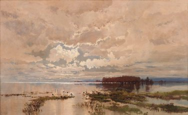 The flood in the Darling 1890, 1895 by WC Piguenit