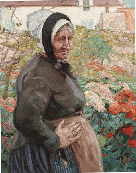 An image of Grand mère by Hilda Rix Nicholas