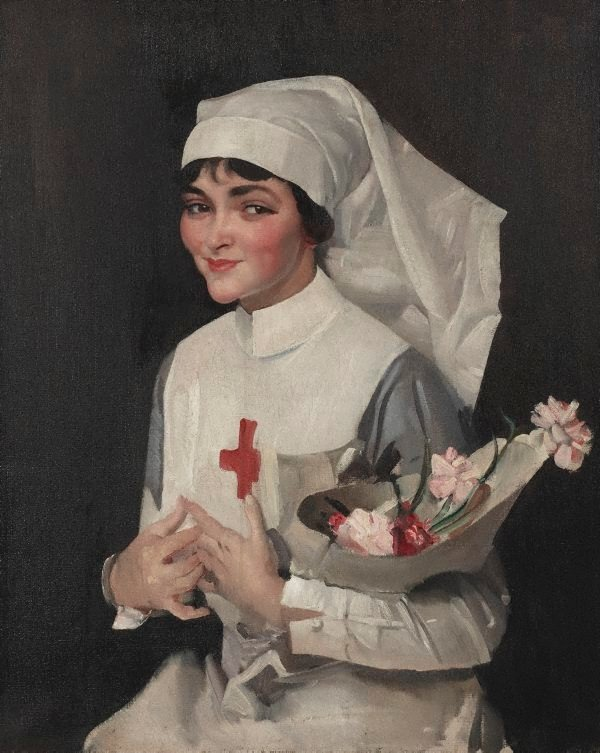 An image of The smiling sister (Miss Helen Lawson)