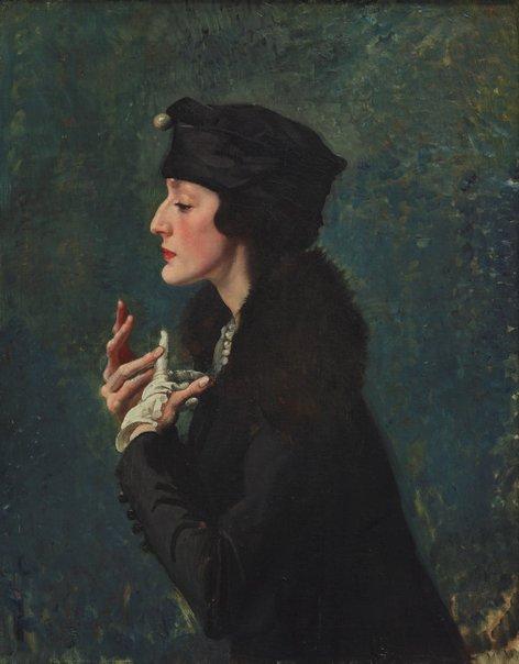 An image of Miss Helen Beauclerk by George W Lambert