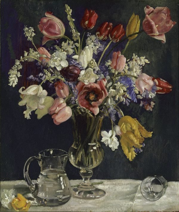 An image of Tulips and wild hyacinths