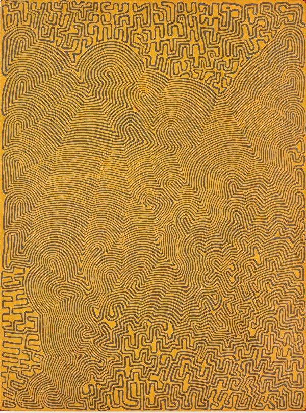 Tingari fire dreaming at Wilkinkarra, (2008) by Ronnie Tjampitjinpa