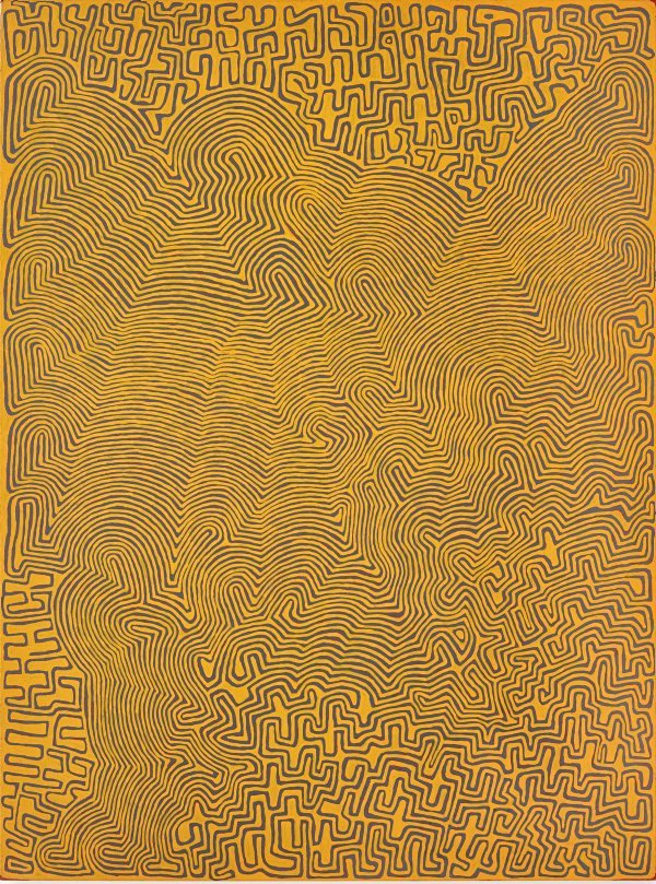AGNSW collection Ronnie Tjampitjinpa Tingari fire dreaming at Wilkinkarra (2008) 612.2014