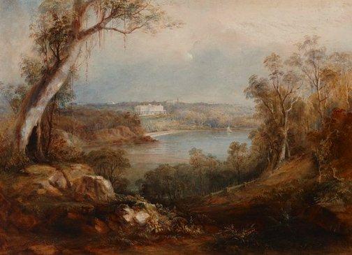 An image of Elizabeth Bay by Conrad Martens