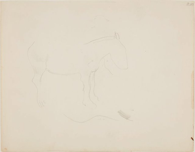 An image of (Horse study) (London genre)