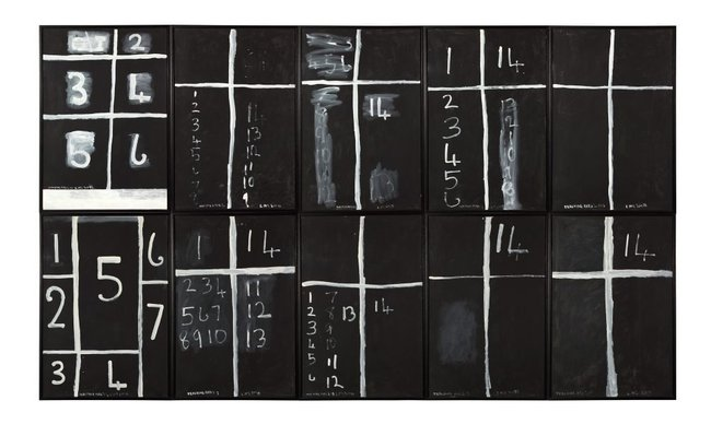 AGNSW collection Colin McCahon Teaching aids 2 (July) (1975) 614.2014.a-j