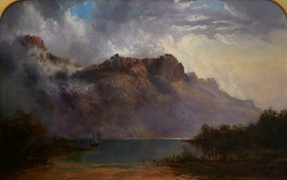 Mount Olympus, Lake St Clair, Tasmania, the source of the Derwent, (1875) by WC Piguenit