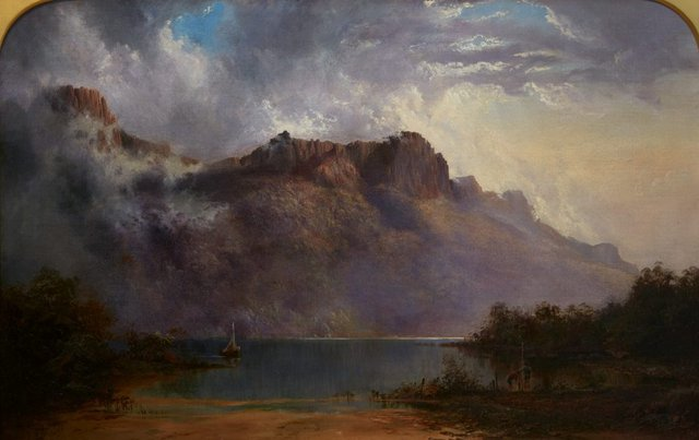 An image of Mount Olympus, Lake St Clair, Tasmania, the source of the Derwent