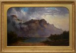 Alternate image of Mount Olympus, Lake St Clair, Tasmania, the source of the Derwent by WC Piguenit