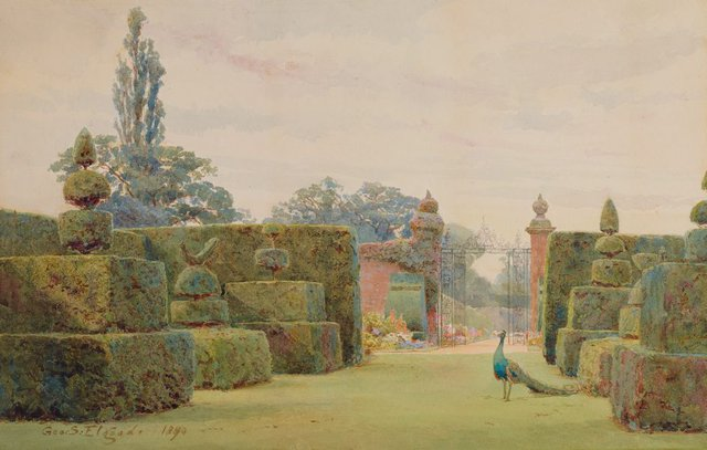 An image of The yew garden, Arley