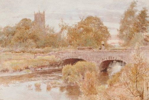 An image of Cheddar, Somersetshire by Albert Goodwin