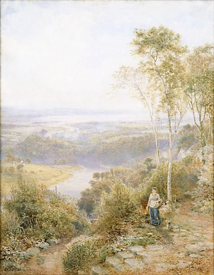 An image of Junction of rivers Wye and Severn by Ebenezer Wake Cook