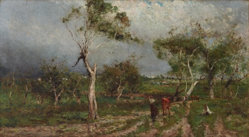 An image of The storm by Walter Withers