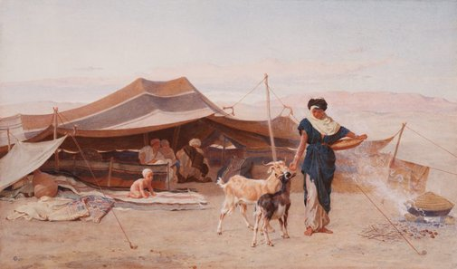 An image of An Arab home by Frederick Goodall