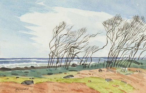 An image of Windy headland by Hal Missingham