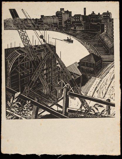 AGNSW collection attrib. Ailsa Lee Brown (The new bridge) 1935-1936