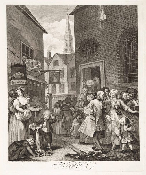 An image of Noon by William Hogarth