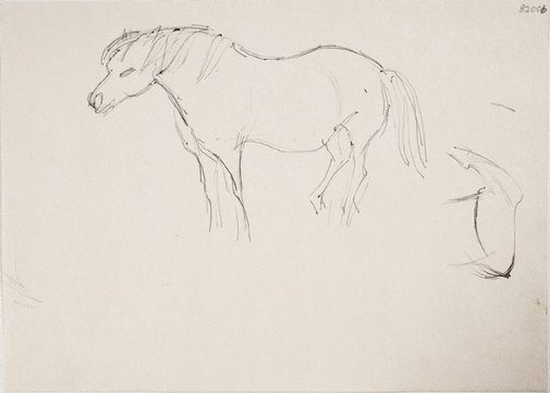 An image of (Horse study) (London genre) by William Dobell