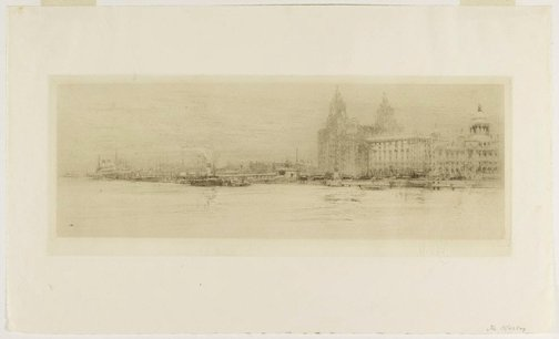 An image of The Mersey by William Walcot