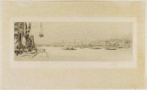 An image of The Thames by William Walcot