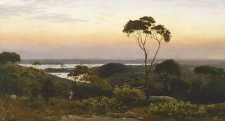 Sydney from the North Shore, (1888) by C.H. Hunt
