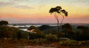 Sydney from the North Shore, 1888 by C.H. Hunt